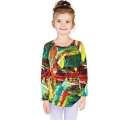 Red Aeroplane 5 Kids  Long Sleeve Tee