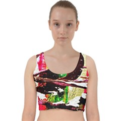 Easter 3 Velvet Racer Back Crop Top