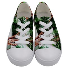 Hot Day In Dallas 40 Kids  Low Top Canvas Sneakers