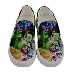 Lilac On A Countertop 2 Women s Canvas Slip Ons