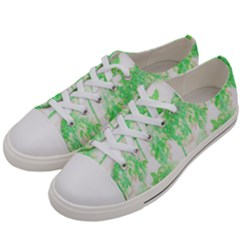 Palm Trees Tropical Beach Pattern  Women s Low Top Canvas Sneakers by CrypticFragmentsColors