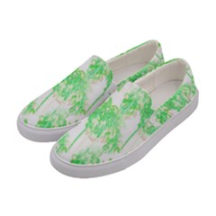 Palm Trees Tropical Beach Pattern  Women s Canvas Slip Ons by CrypticFragmentsColors