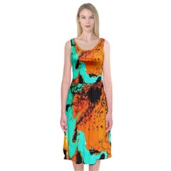 Fragrance Of Kenia 2 Midi Sleeveless Dress