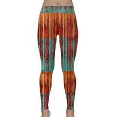 Stretched Exotic Blue Green Red And Orange Design Created By Flipstylez Designs Classic Yoga Leggings