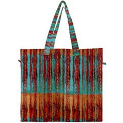 Stretched Exotic Blue Green Red And Orange Design Created By Flipstylez Designs Canvas Travel Bag by flipstylezdes