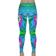 The Tropical Watercolor Peacock Feather Created By Flipstylez Designs  Classic Yoga Leggings by flipstylezdes