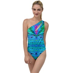 New Look Tropical Design By Flipstylez Designs  To One Side Swimsuit by flipstylezdes