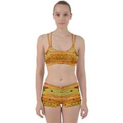Yellow And Pink Ready For The Island By Flipstylez Designs  Women s Sports Set