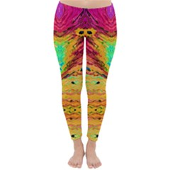 Pink Yellow And Tropical Pink Created By Flipstylez Designs Classic Winter Leggings