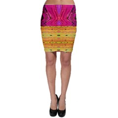 Pink Native Tropics Created By Flipstylez Designs Bodycon Skirt