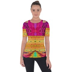 Pink Native Tropics Created By Flipstylez Designs Short Sleeve Top