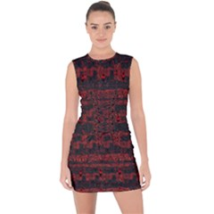 Burgundy Design With Black Zig Zag Pattern Created By Flipstylez Designs Lace Up Front Bodycon Dress