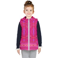Pink And Purple And Peacock Created By Flipstylez Designs  Kid s Hooded Puffer Vest