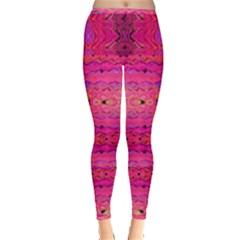 Pink And Purple And Beautiful Peacock Design Created By Flipstylez Designs Inside Out Leggings