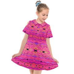Pink And Purple And Beautiful Peacock Design Created By Flipstylez Designs Kids  Short Sleeve Shirt Dress