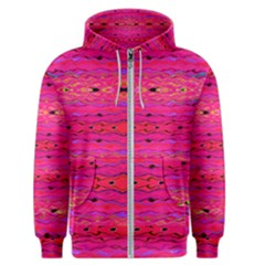 Pink And Purple And Peacock Created By Flipstylez Designs Men s Zipper Hoodie