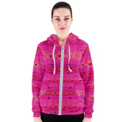Pink And Purple And Peacock Created By Flipstylez Designs Women s Zipper Hoodie