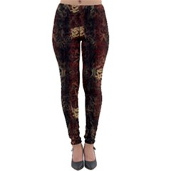 A Golden Dragon Burgundy Design Created By Flipstylez Designs Lightweight Velour Leggings
