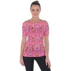 Pink Purple Beautiful Golden Butterfly Created By Flipstylez Designs Short Sleeve Top