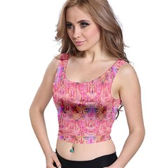 Pink Purple Beautiful Golden Butterfly Created By Flipstylez Designs Crop Top