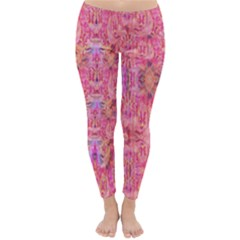 Pink Purple Beautiful Golden Butterfly Created By Flipstylez Designs Classic Winter Leggings