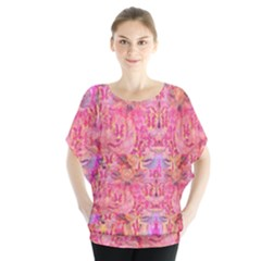 Pink Purple Beautiful Golden Butterfly Created By Flipstylez Designs Blouse