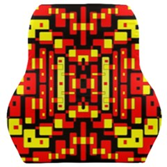 Red Black Yellow 4 Car Seat Back Cushion