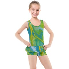 Sunlit River Kid s Boyleg Swimsuit