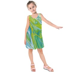 Sunlit River Kids  Sleeveless Dress