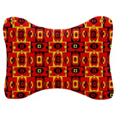 Red Black Yellow 7 Velour Seat Head Rest Cushion
