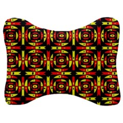 Red Black Yellow 9 Velour Seat Head Rest Cushion