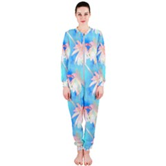 Palm Trees Summer Afternoon Onepiece Jumpsuit (ladies)  by CrypticFragmentsColors