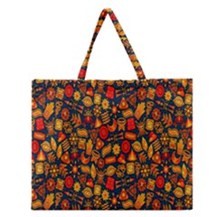 F 9 Zipper Large Tote Bag by ArtworkByPatrick1