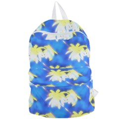 Palm Trees Bright Blue Green Foldable Lightweight Backpack