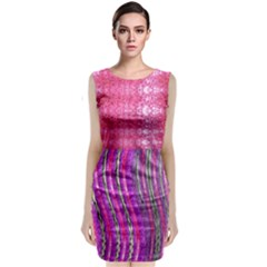 Pink And Purple Shimmer Design By Flipstylez Designs Classic Sleeveless Midi Dress