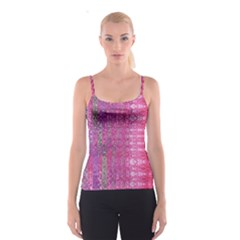 Purple Splash And Pink Shimmer Created By Flipstylez Designs Spaghetti Strap Top