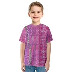 Purple Splash And Pink Shimmer Created By Flipstylez Designs Kids  Sport Mesh Tee