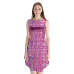 Purple Splash And Pink Shimmer Created By Flipstylez Designs Sleeveless Chiffon Dress