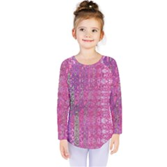 Purple Splash And Pink Shimmer Created By Flipstylez Designs Kids  Long Sleeve Tee by flipstylezdes