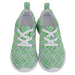 Woven2 White Marble & Green Watercolor (r) Running Shoes