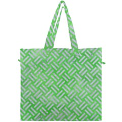 Woven2 White Marble & Green Watercolor Canvas Travel Bag by trendistuff