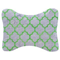 Tile1 (r) White Marble & Green Watercolor Velour Seat Head Rest Cushion by trendistuff