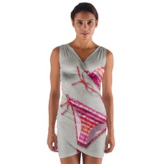 Urban T Shirts, Tropical Swim Suits, Running Shoes, Phone Cases Wrap Front Bodycon Dress by gol1ath