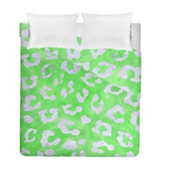 Skin5 White Marble & Green Watercolor (r) Duvet Cover Double Side (full/ Double Size) by trendistuff