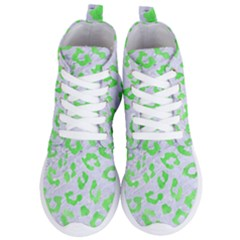 Skin5 White Marble & Green Watercolor Women s Lightweight High Top Sneakers by trendistuff
