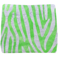Skin4 White Marble & Green Watercolor (r) Seat Cushion