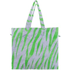 Skin3 White Marble & Green Watercolor (r) Canvas Travel Bag by trendistuff