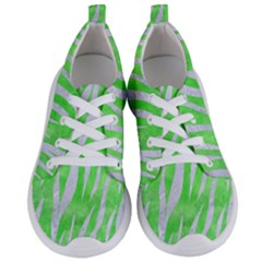 Skin3 White Marble & Green Watercolor Women s Lightweight Sports Shoes