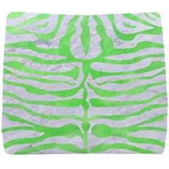 Skin2 White Marble & Green Watercolor (r) Seat Cushion