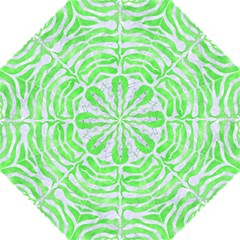 Skin2 White Marble & Green Watercolor Folding Umbrellas